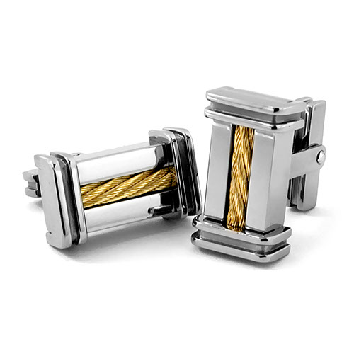 Edward Mirell 14K Gold Cable Cufflinks
