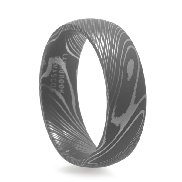 LASHBROOK DESIGNS Damascus Steel Wedding Band Maverick