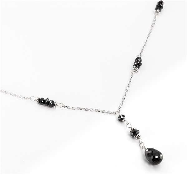 Black Diamond Lavalier Necklace by belloria