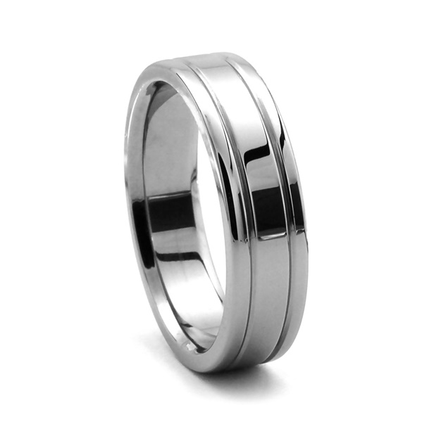ORLI Tungsten Wedding Band by Heavy Stone Rings