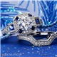18K Diamond & Sapphire Engagement Ring .23ctw - Romance Collection