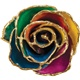 24k Yellow Gold Dipped Rainbow Rose