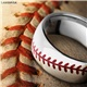 Red Baseball Cobalt Chrome Ring by Lashbrook Designs