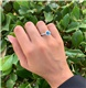 TACORI Platinum, Diamond and Blue Zircon Ring