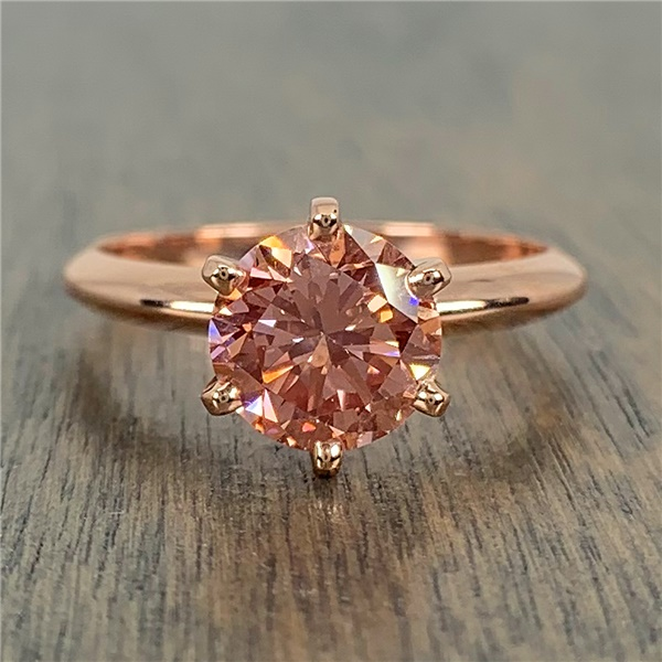 1.50ct Fancy Intense Orangey Pink Diamond