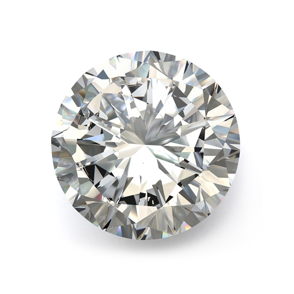 1.02ct Round Brilliant Diamond, I1 Clarity, K Color, Very Good Cut, GIA