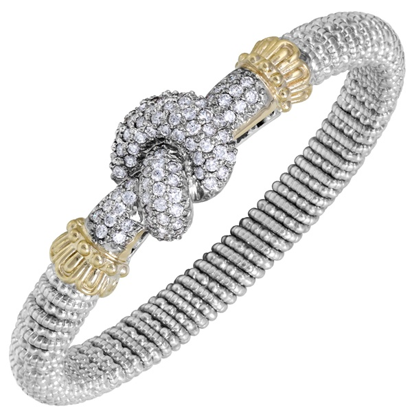 14k Yellow Gold and Sterling Silver Bracelet by Alwant Vahan