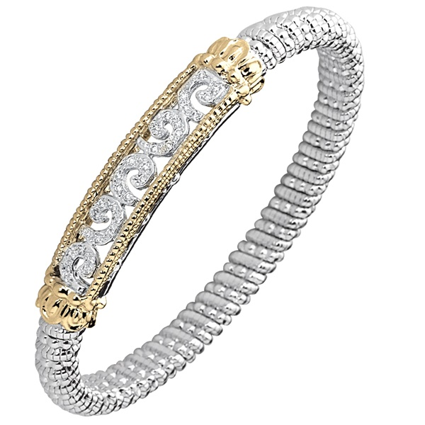 Diamond Scroll Bracelet by Alwand Vahan, 6mm