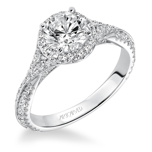 LIANA ArtCarved Diamond Engagement Ring