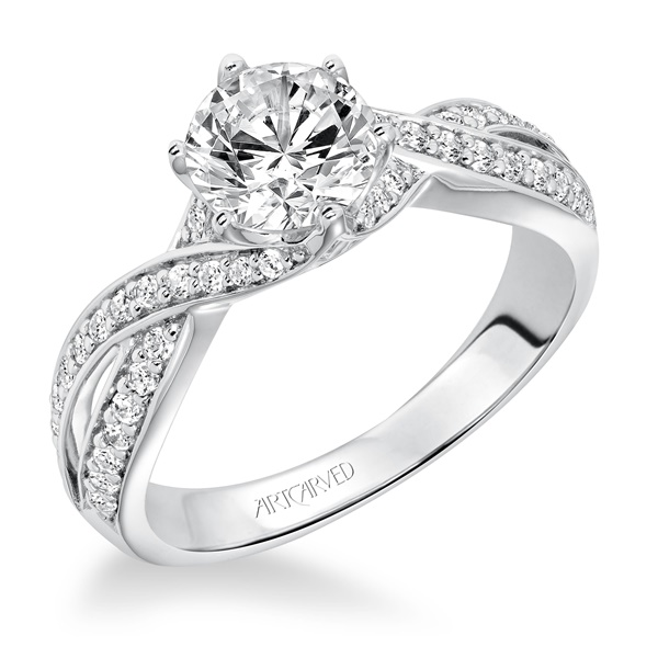 PRESLEY ArtCarved Diamond Engagement Ring