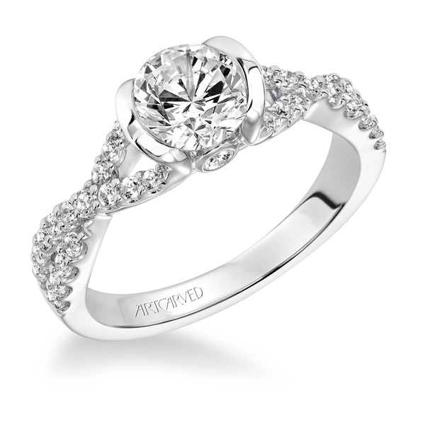 ADEENA ArtCarved Diamond Engagement Ring