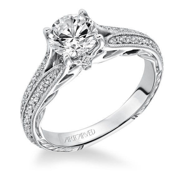 ZELMA ArtCarved Engagement Ring