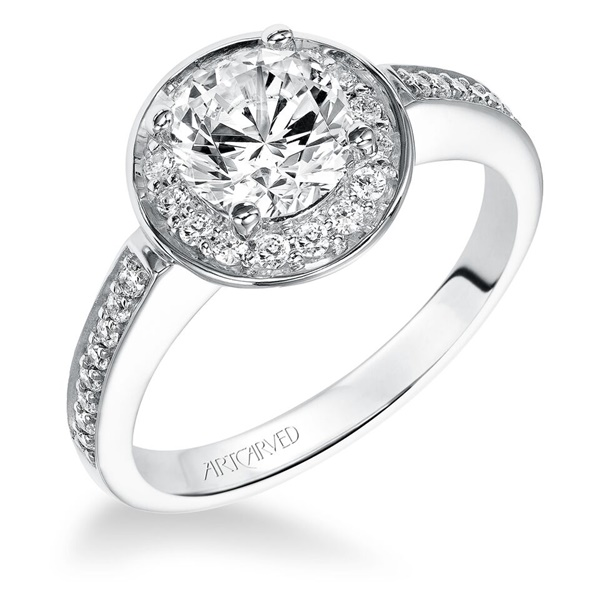 ArtCarved Diamond Engagement Ring - NADIA