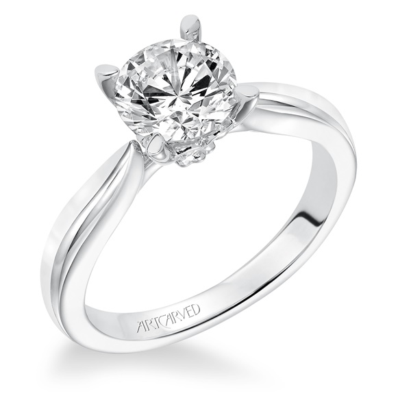 ArtCarved Nelly 14k White Gold & Diamond Engagement Ring