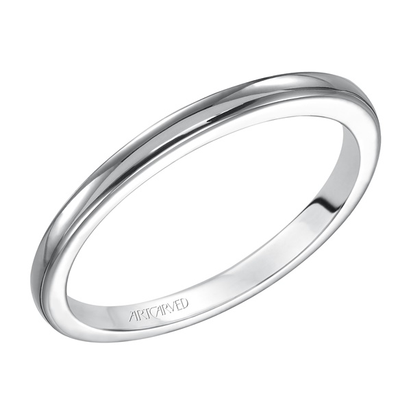 Desiree ArtCarved White Gold Wedding Band