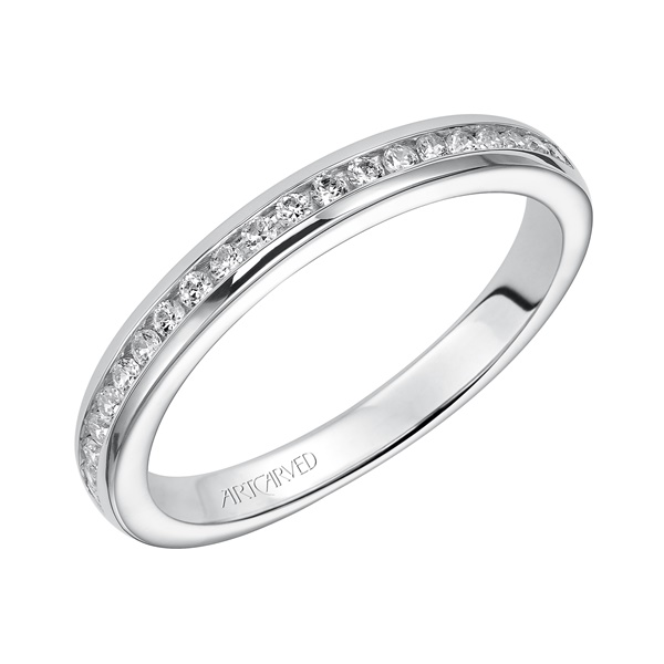 Amanda ArtCarved Diamond Wedding Band