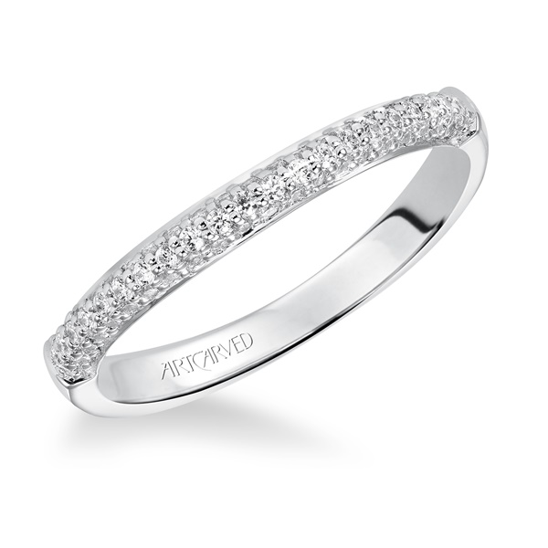 Reese ArtCarved Diamond Wedding Band