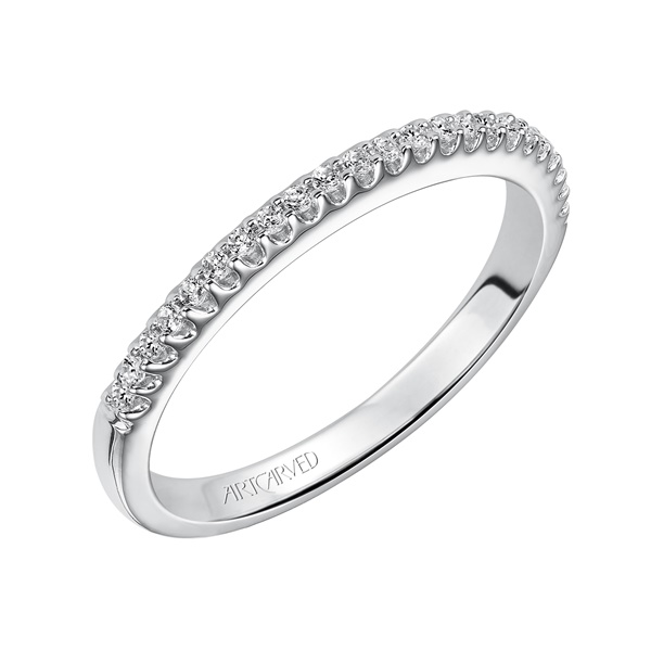 Sandy ArtCarved Diamond Wedding Band