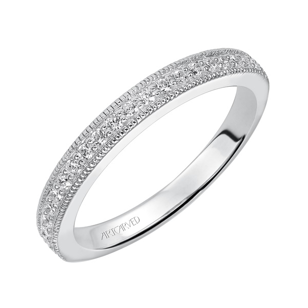 ArCarved Florence White Gold Wedding Band