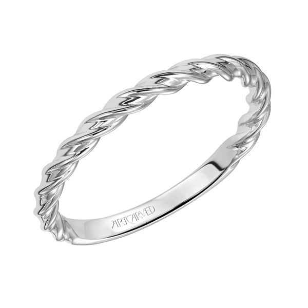 Joanna ArtCarved White Gold Wedding Band