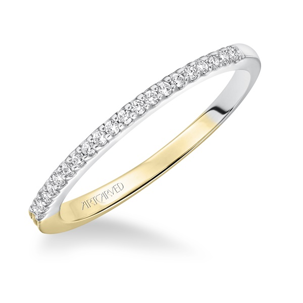 Lancy ArtCarved Two Toned Wedding Band