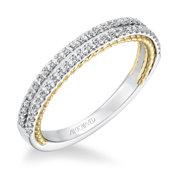 EMMELINE Double Row Diamond Band from ArtCarved