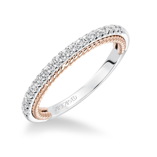 ILENA ArtCarved Diamond Wedding Band
