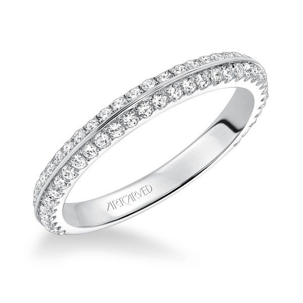 LIANA ArtCarved Diamond Wedding Band