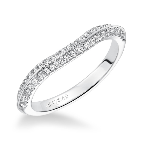 SIENNA ArtCarved Diamond Band