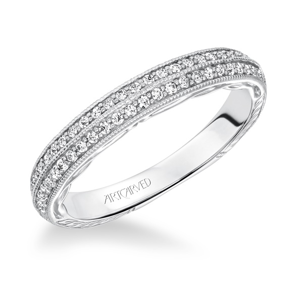ZELMA ArtCarved Diamond Band