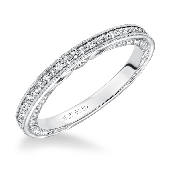 MILLICENT ArtCarved Diamond Band
