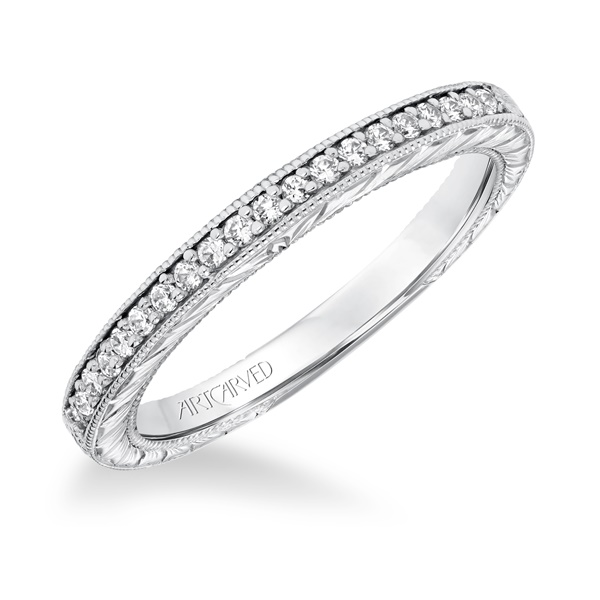 ArtCarved Wihelmina Diamond Wedding Band
