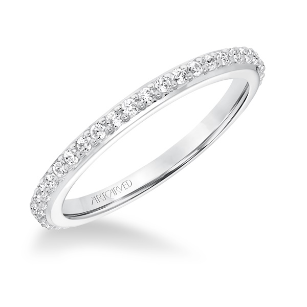 ArtCarved Evangeline 14kt White Gold Wedding Band