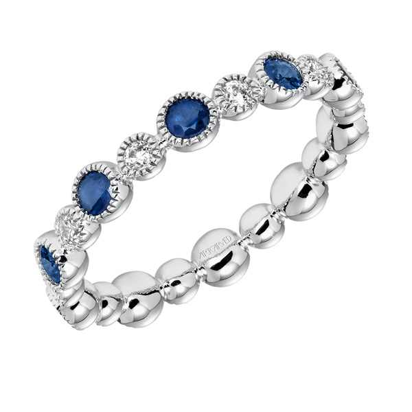 ArtCarved Sapphire and Diamond Eternity Band
