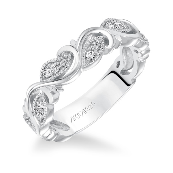 LEAF & VINE - ArtCarved Diamond Anniversary Band