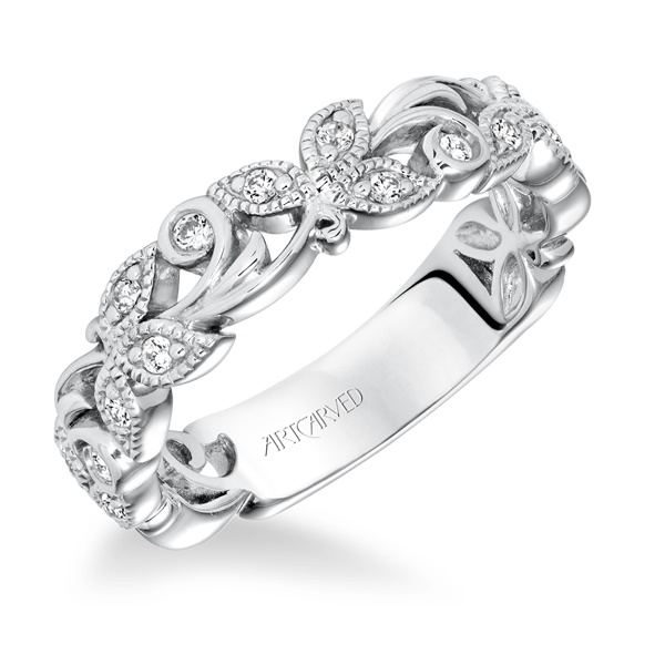 LEAF & VINE - Diamond Anniversary Ring by ArtCarved