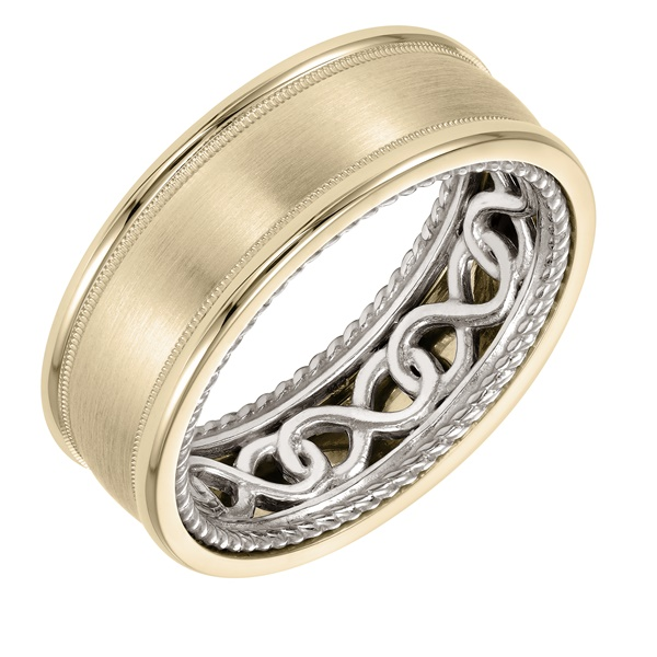 ArtCarved Inside and Out Wedding Band -  Infinity Design