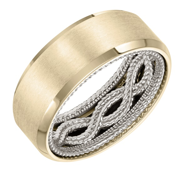 ArtCarved Inside and Out Wedding Band - Rope