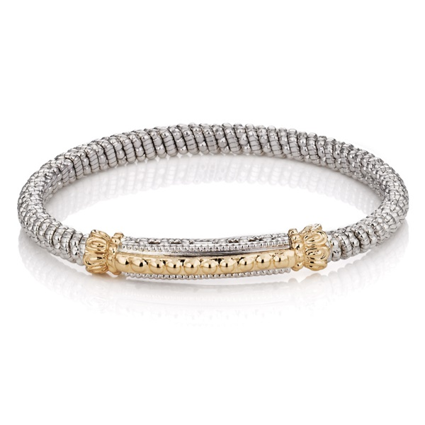 Alwand Vahan Gold Beaded Bar Barcelet