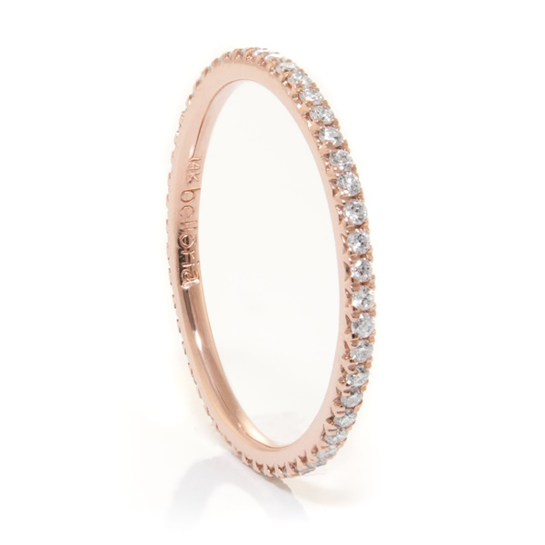 14k Rose Gold Diamond Eternity Band by Belloria