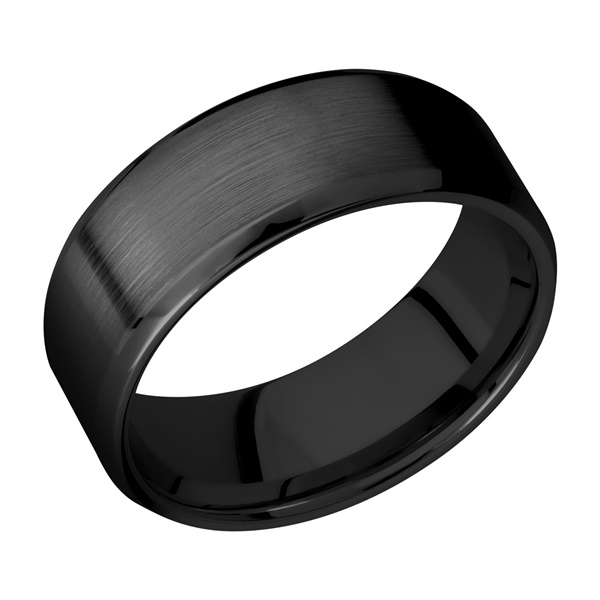 Beveled Zirconium Wedding Band by Lashbrook Designs