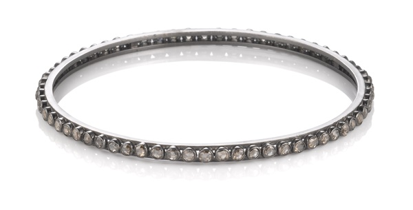 Black Gold Rough Cut Diamond Bracelet - 4.40ctw