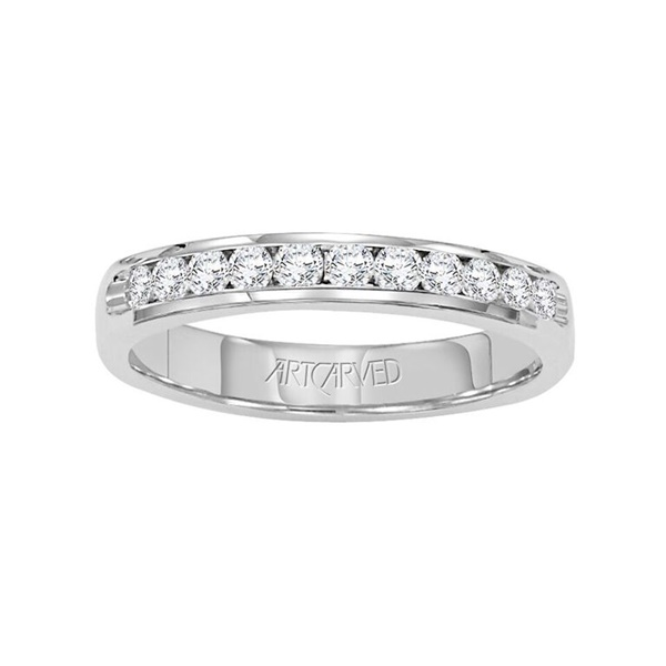 ArtCarved Channel Set Diamond Band, .25ctw in Palladium - GLEAMING GOLD