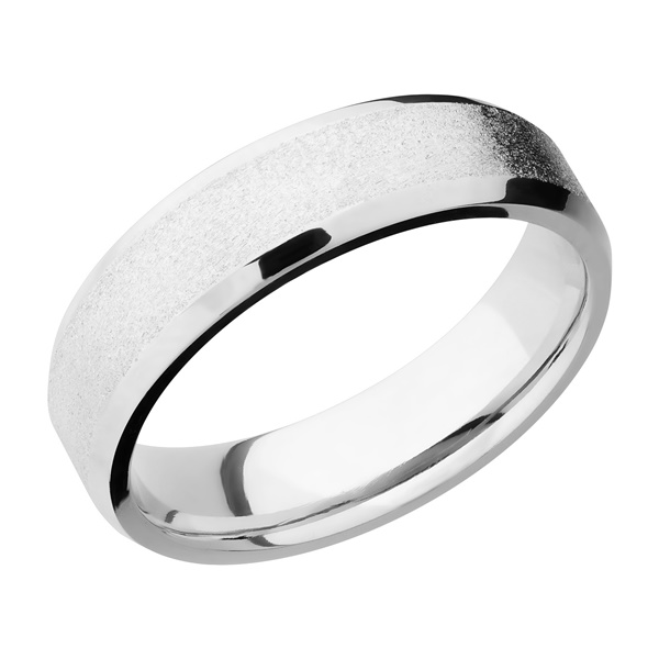 Beveled Cobalt Chrome Wedding Band by Lashbrook Designs
