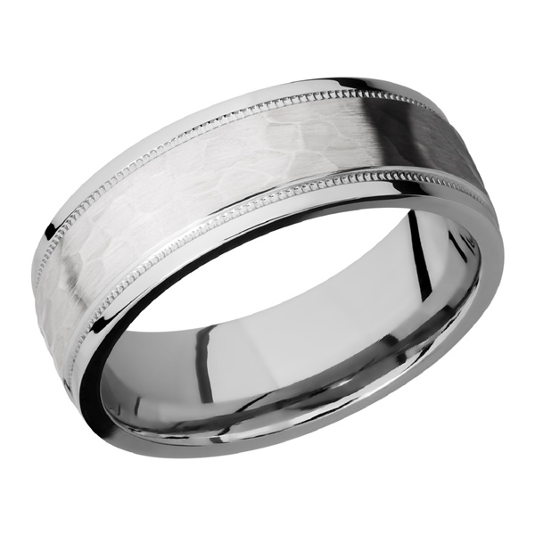 Cobalt Chrome Reverse Milgrain Ring by Lashbrook Designs