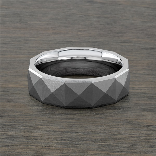 Cobalt Chrome Pyramid Wedding Band by J.R. Yates
