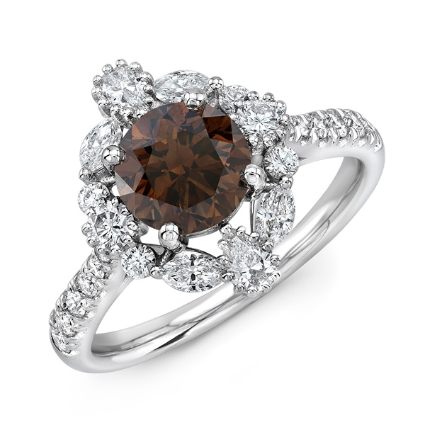 Chocolate Diamond Engagement Ring