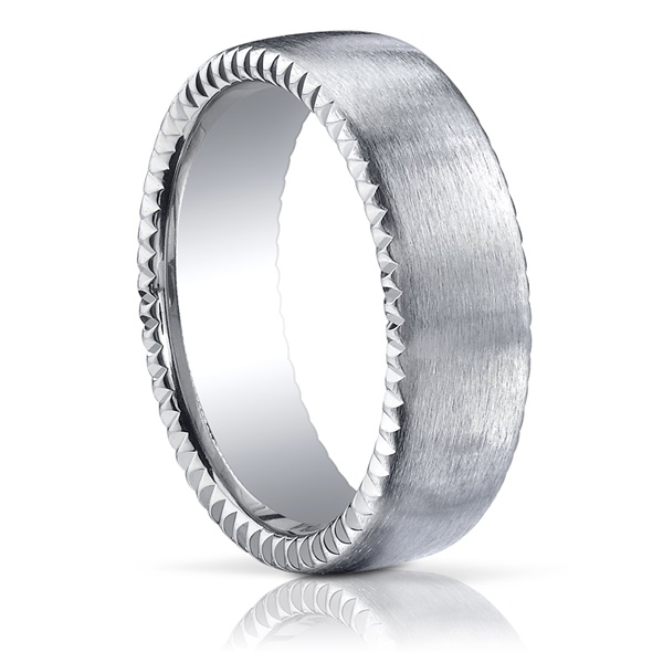 Benchmark Coin Edge Palladium Wedding Band