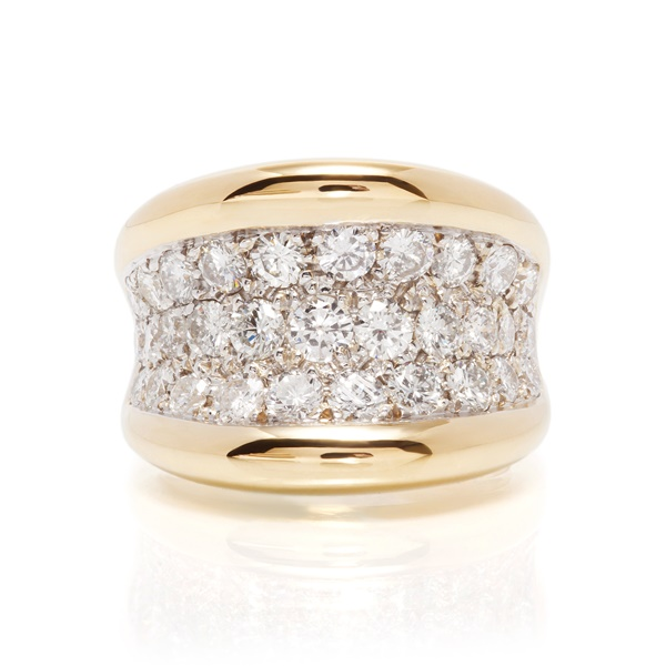 Diamond Pave' Saddle Ring - 2.47ctw