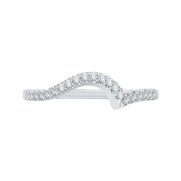 Promezza White Gold Curved Diamond Wedding Band